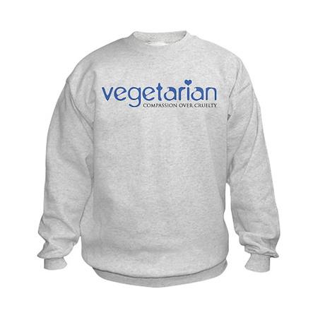 Vegetarian - Compassion Over Cruelty Kids Sweatshi