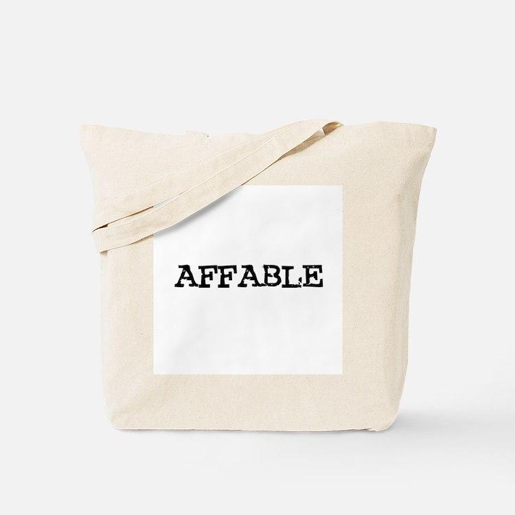 Affable Tote Bag