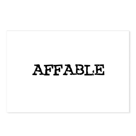 Affable Postcards (Package of 8)