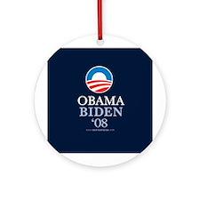 """""""Obama-Biden 2008"""" Ornament (Round)"""
