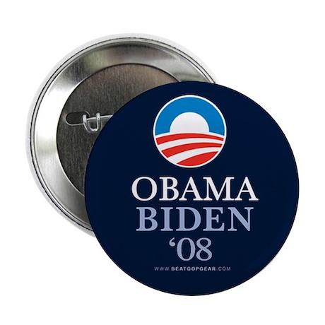 """""""Obama-Biden 08"""" 2.25"""" Button (10)"""