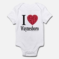 I Love Waynesboro Infant Creeper