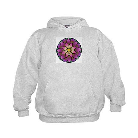 Lotus Mandala Kids Hoodie