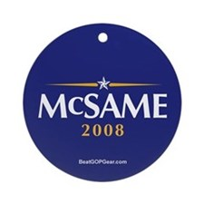 """McSame President"" Ornament (Round)"