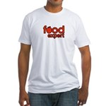 Men's Food Expert Fitted T-Shirt (white)