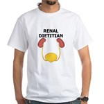 Renal Dietitian White T-Shirt (white)