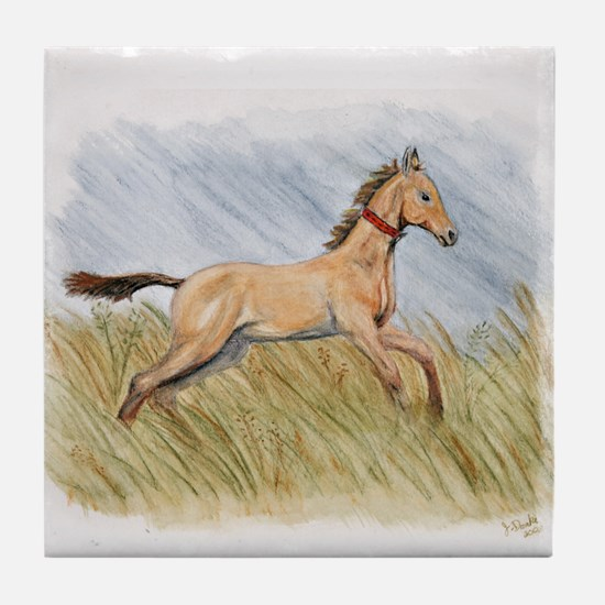 Akhal-Teke Artwork Tile Coaster
