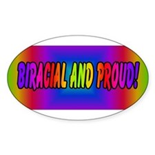 Biracial proud Oval Decal