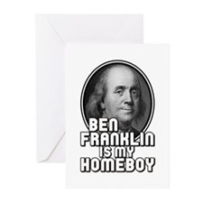Benjamin Franklin Is My Homeboy Greeting Cards (Pk