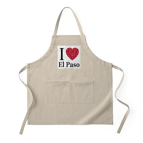 I Love El Paso BBQ Apron