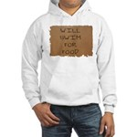Will Swim for Food Hooded Sweatshirt