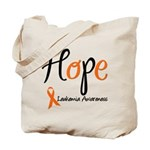 Hope Leukemia Awareness Tote Bag