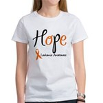 Hope Leukemia Awareness Women's T-Shirt