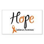 Hope Leukemia Awareness Rectangle Sticker 10 pk)