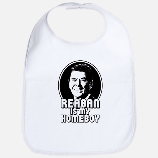 Ronald Reagan Is My Homeboy Bib