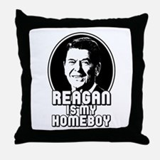 Ronald Reagan Is My Homeboy Throw Pillow