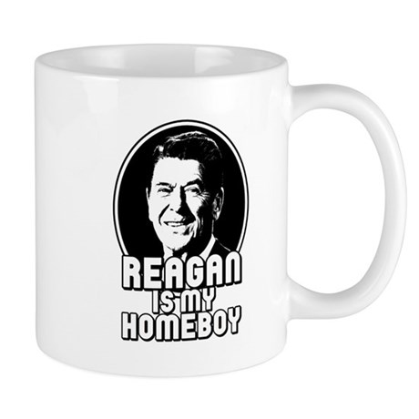 Ronald Reagan Is My Homeboy Mug
