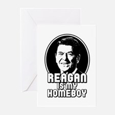 Ronald Reagan Is My Homeboy Greeting Cards (Pk of
