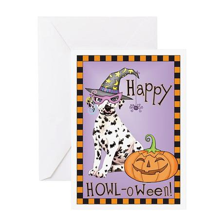 Halloween Dalmatian Greeting Card