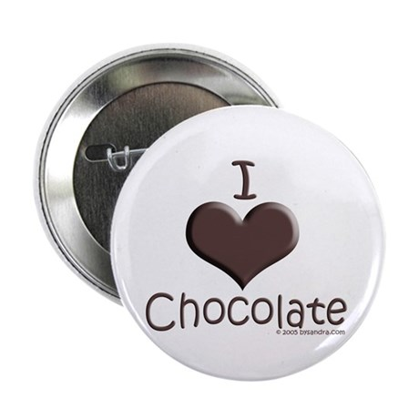"""I Love Chocolate 2.25"""" Button (100 pack)"""