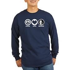 Peace Love Reagan T