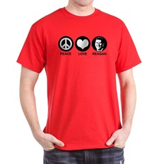 Peace Love Reagan T-Shirt