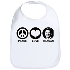 Peace Love Reagan Bib