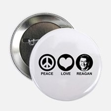 "Peace Love Reagan 2.25"" Button"