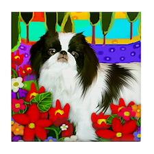 Japanese Chin Dog Garden Tile Coaster