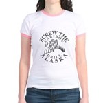 Screw Caribou (Drill Alaska) Jr. Ringer T-Shirt