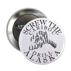 Screw Caribou (Drill Alaska) Button