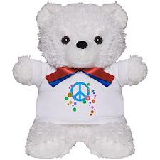 Peace Love Flowers Teddy Bear