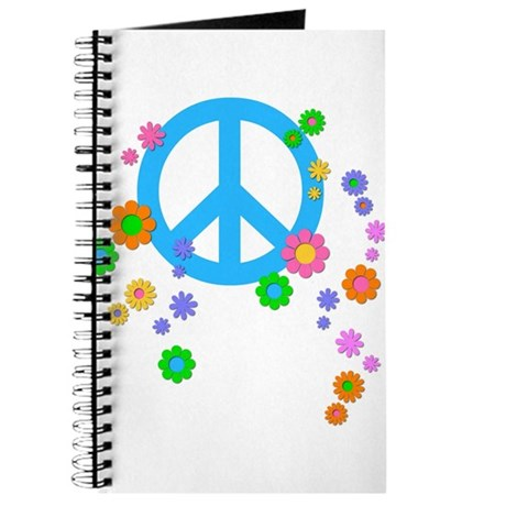 Peace sign and Flowers Journal