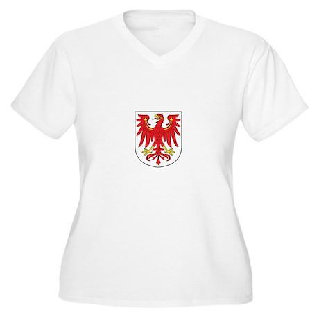 brandenburg Womes Plus-Size V-Neck T-Shirt