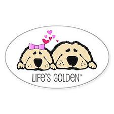 Life's Golden Valentine Oval Bumper Stickers