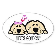 Life's Golden Valentine Oval Decal