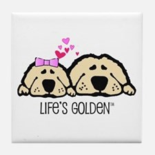 Life's Golden Valentine Tile Coaster