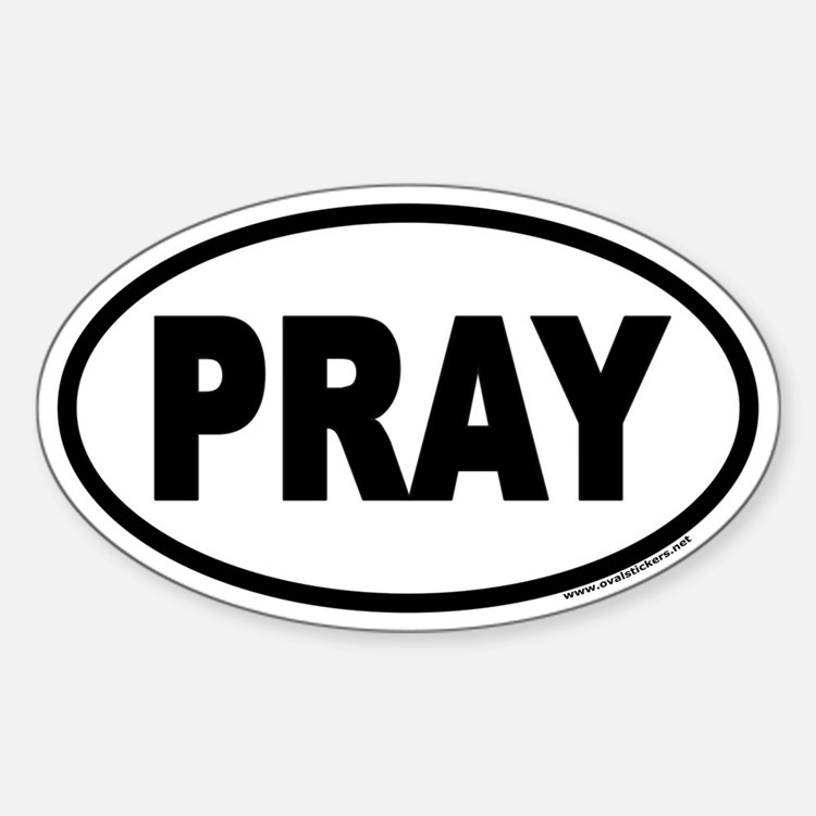 PRAY Euro Oval Decal