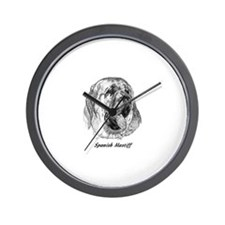 Cute Spanish mastiff Wall Clock