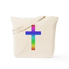 Gay Pride Cross Tote Bag