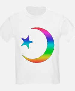 Gay Pride Star & Crescent T-Shirt