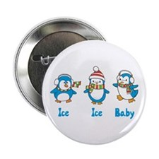 """Ice Ice Baby Penguins 2.25"""" Button (10 pack)"""