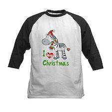 I Love Christmas Zebra Tee