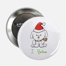 """Christmas Puppy 2.25"""" Button"""