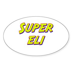 Super eli Oval Decal