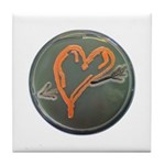 Heart Tile Coaster