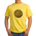 Pink Elephants Yellow T-Shirt