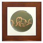 Pink Elephants Framed Tile