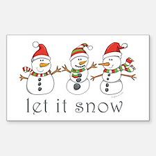 Let It Snow Rectangle Sticker 10 pk)