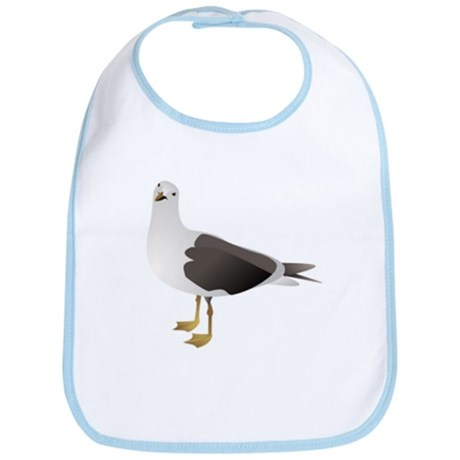 Seagull drawing Bib